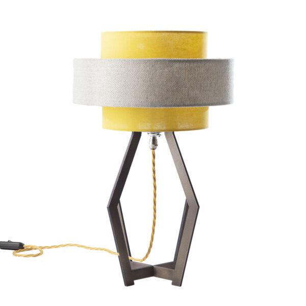 Fusée brass table lamp