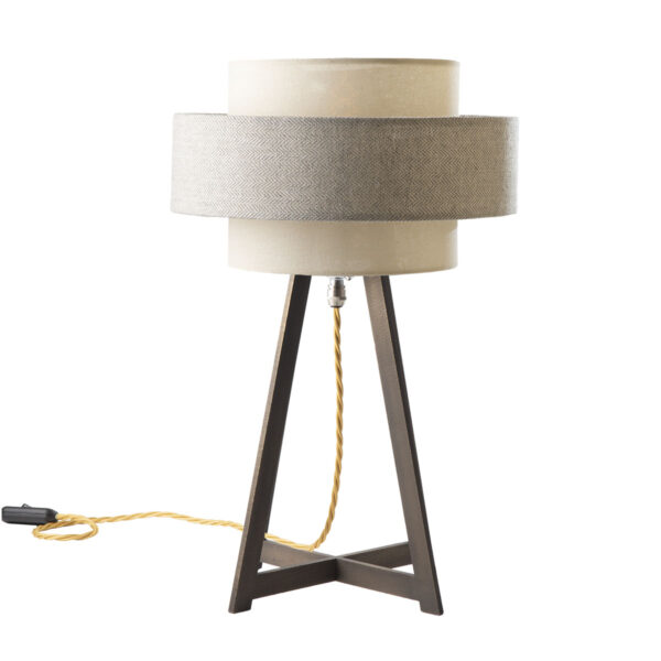 Pylone brass table lamp