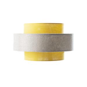 Gold and grey fabric lamp shade