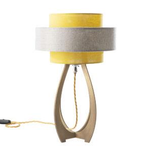 Ampoule brass table lamp