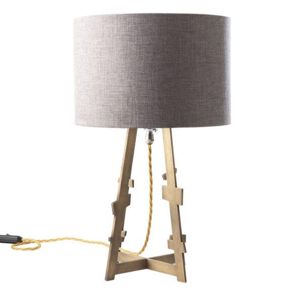 Eiffel brass table lamp