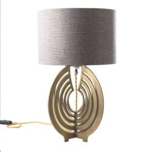 Labyrinthe brass table lamp