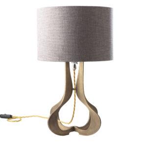 Sablier brass table lamp