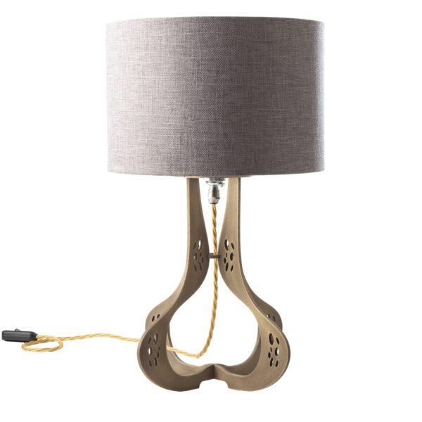 Sablier Perce brass table lamp
