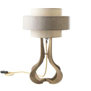 Sablier Vague brass table lamp