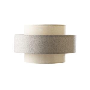 Linen and grey fabric lamp shade