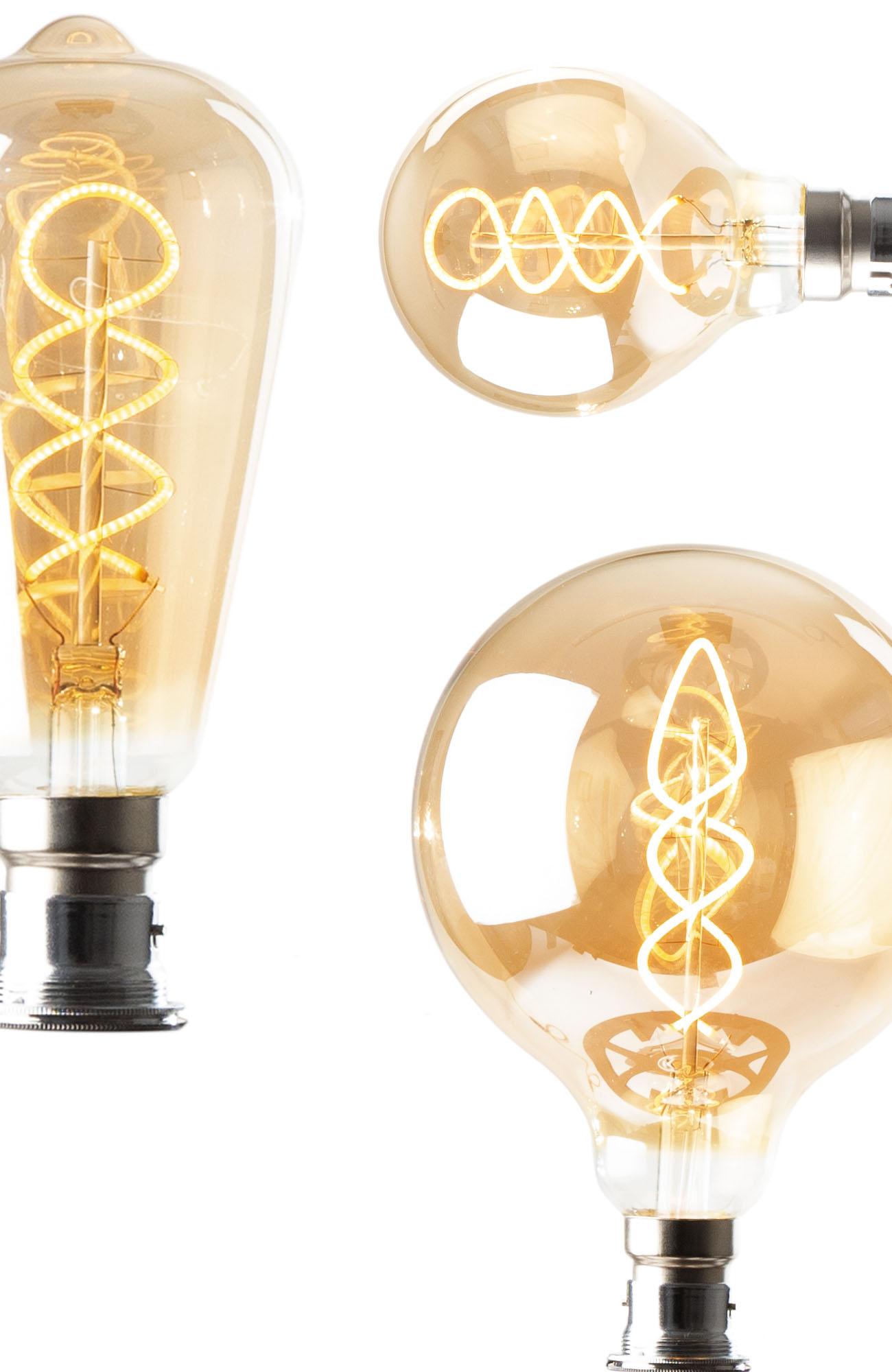 Ornate LED light bulb