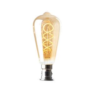 Oval ornate LED lightbulb