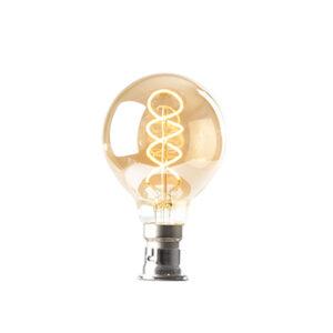 Small round ornate LED lightbulb